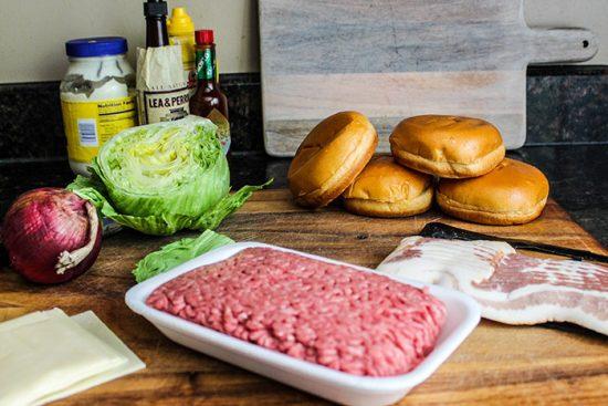 продукты для бургера