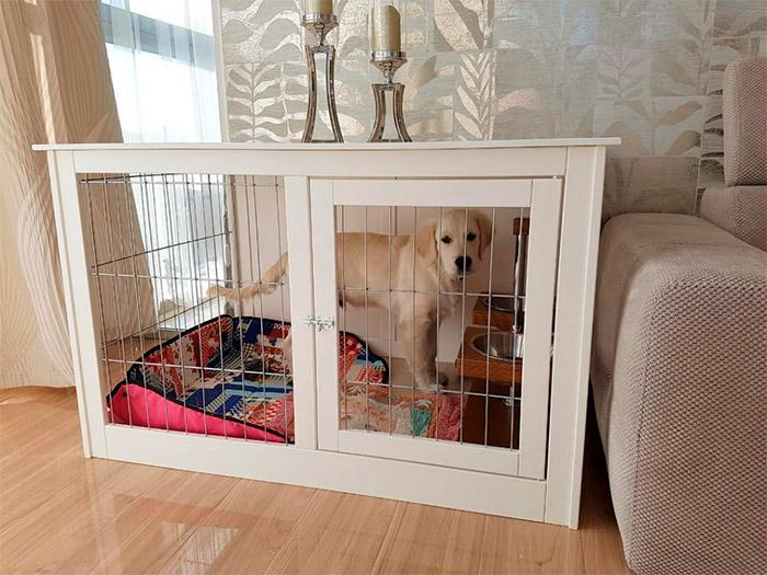 вольер для собаки в квартире
