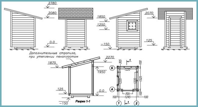 план строительства туалета на