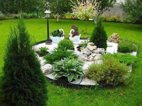 Сад с прудиком своими руками