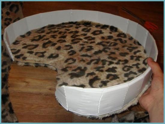 обивка для кошачьего домика