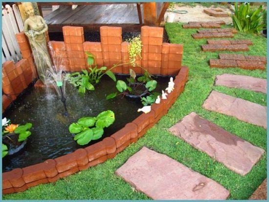 место для фонтана на даче