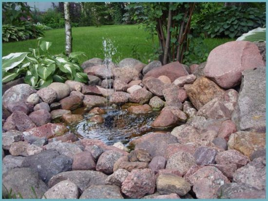 как украсить фонтан