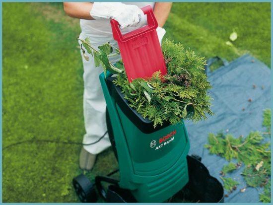 для чего нужен садовый измельчитель