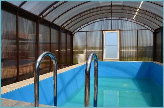 как сделать павильон для бассейна